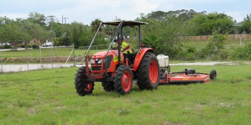 Tractor Mowing Jacksonville